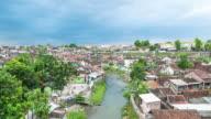 4K Time Lapse : Home in City landscape. Yogyakarta. video