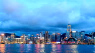 HD Time lapse : Hong Kong city skyline at night video