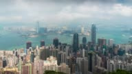 Time Lapse : Hong Kong panoramic view from Victoria Peak viewpoint video