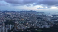 Time lapse Hong Kong victoria harbor view from top video
