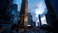 Time Lapse Hongkong at dusk video