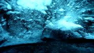 HD Time Lapse : ice caves in Iceland video
