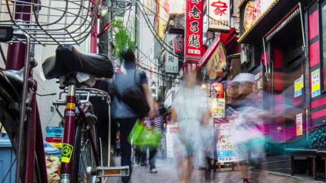 Time lapse in a narrow street at Shinjuku video