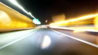 4K time lapse in rain around Tokyo's metropolitan highway. video