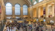 Time lapse interior of Grand Central Station in New York City video