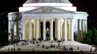 HD Time Lapse : Jefferson Memorial in Washington DC video