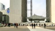 HD Time Lapse : La Defense in Paris video