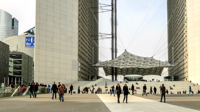 HD Time Lapse : La Defense in Paris video