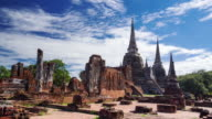 Time Lapse Landmark Old Temple in Ayutthaya Province video