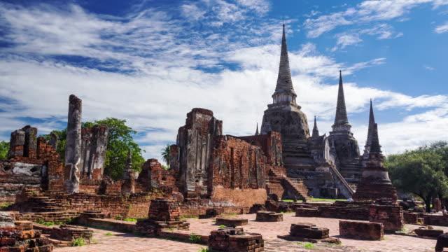Time Lapse Landmark Old Temple in Ayutthaya video