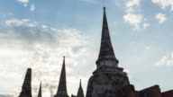 Time Lapse Landmark Old Temple  of Ayutthaya Thailand video