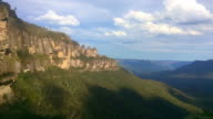 Time lapse landscape of The Three Sisters rock formation video