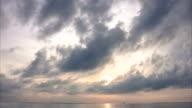 Time lapse landscape Sunrise Beach video