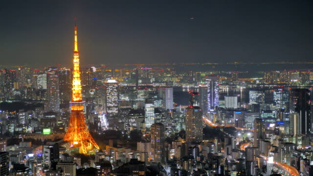 Time lapse - Landscape Tokyo Tower night view video