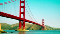 Time Lapse - Look-up View of Golden Gate Bridge in San Francisco video