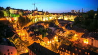 4K Time Lapse : Luxembourg City video