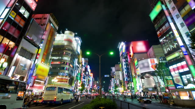 Time lapse - Main neon strip in Tokyo video