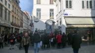 4K Time Lapse : Manneken Pis statue video