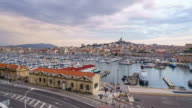 4K Time Lapse : Marseille at night. video