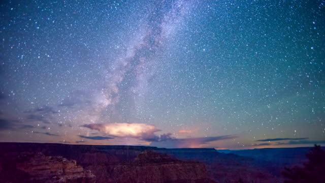 Time Lapse - Milky Way Galaxy Over Grand Canyon video