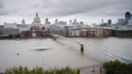 Time lapse Millennium Bridge on Thames in London video