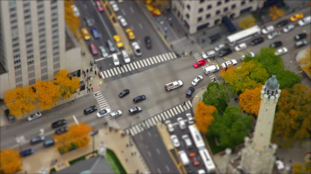 Time lapse miniature city with traffic video