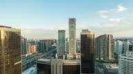 Time Lapse- Modern Skyscrapers in Beijing in Sunlight (WS HA RL Pan) video
