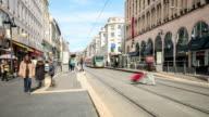 4K Time Lapse : Modern tram in Nice video