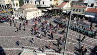 time lapse Monastiraki Square in Capital Cities Athens video