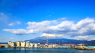 HD Time Lapse : Mountain Fuji and Japan industry zone video