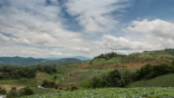 Time Lapse Mountain Landscape with Rice Fields Cloud sky, Rice terraces video
