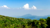 Time lapse - Mountains aerial view from Doi Inthanon viewpoint, nothern Thailand video
