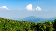Time lapse - Mountains aerial view from Doi Inthanon viewpoint, nothern Thailand (zoom) video