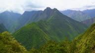 Time lapse Mountains near Machu Pichu video