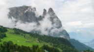 Time Lapse, Moving cloud at Seiser alm, Dolomites video