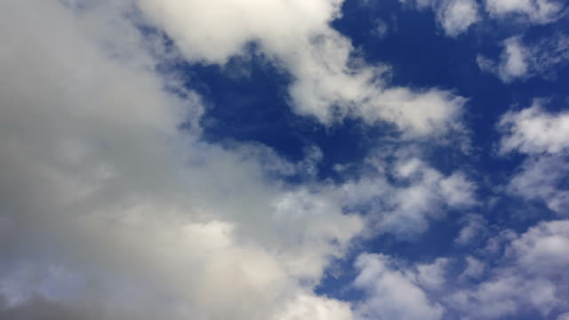 Time lapse. Moving cloud on blue sky video