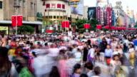 Time Lapse - Nanjing Rd Pedestrian Street video