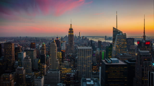 Time Lapse: New York City Skyline Day to Night video