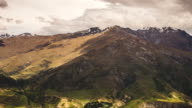 Time Lapse - New Zealand Mountain Range Under Moving Clouds in Queenstown video