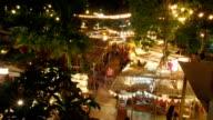 Time lapse night market festival video