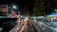 4K Time Lapse : Night market in Yogyakarta video