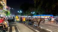 Time Lapse : Night market in Yogyakarta video