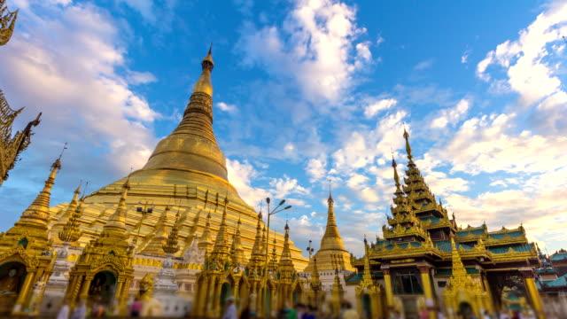 Time Lapse Night to Day Golden Shwedagon Pagoda Of Yangon Myanmar video