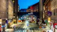 HD Time Lapse: Night Traffic City Street video