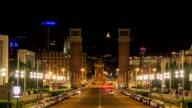 HD Time lapse : Night view of Plaza de Espana video