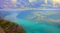Time Lapse. Norway, The Pulpit Rock video