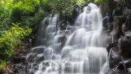 Time lapse of a beautiful tropical waterfall video