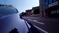 Time Lapse of a Car Driving through Streets video