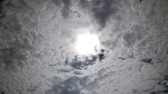 Time lapse of a cloudy sky with hidden sun video