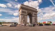 Time lapse of Arc de Triumph video